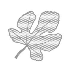 silver halftone leaf