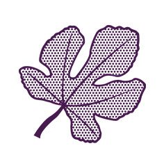 purple halftone leaf